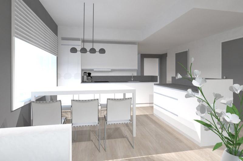 Havainnollistava mallinnuskuva keittiöstä
